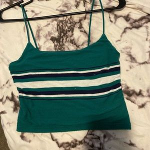Green and white tank top